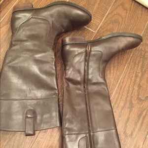 NEW chocolate leather Ralph Lauren boots